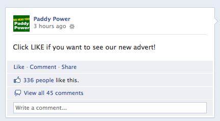 Paddy Power no Facebook