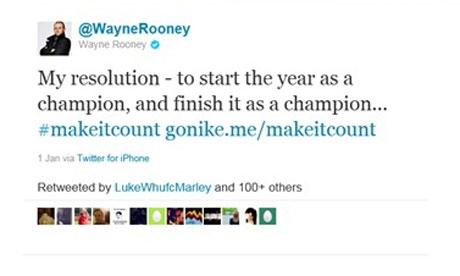 Tuíte deletado de Rooney