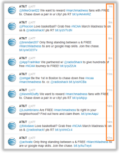 AT&T fez SPAM