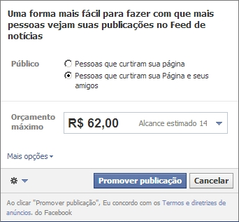 Promover post no Facebook
