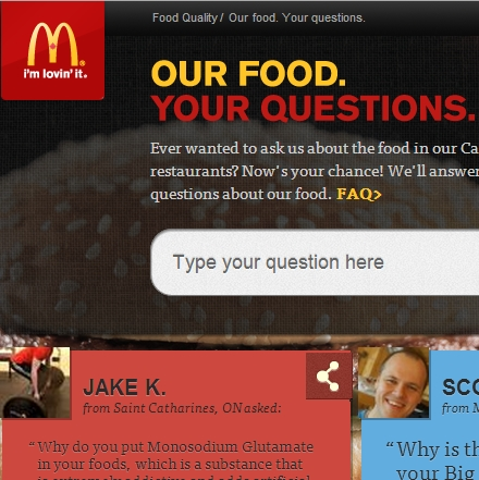 McDonalds - Our Food Your Questions