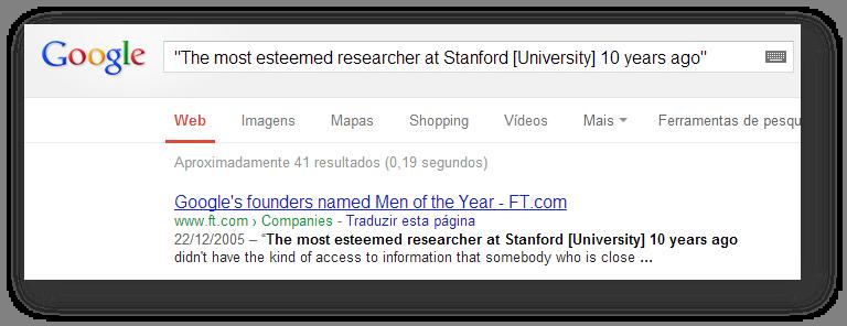 Busca do Google - operador aspas - Tracto