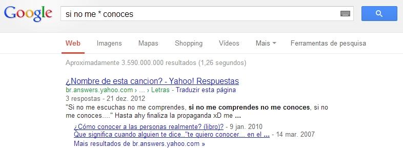 Busca do Google - operador asterisco - Tracto
