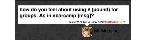 Qual foi a primeira hashtag de todos os tempos