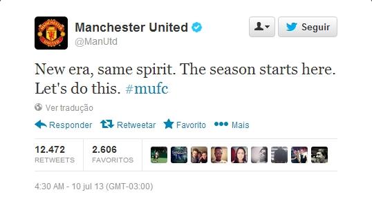 Manchester United chega ao Twitter e ganha 300 mil seguidores em 12h