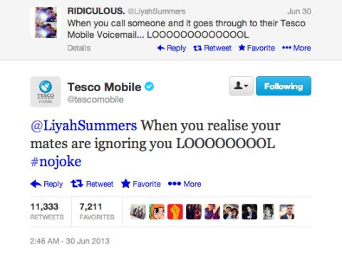 Case Tesco Mobile zoando usuarios no Twitter