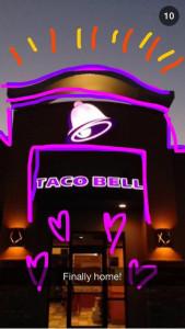 Distribuição de Conteúdo da Taco Bell no Snapchat