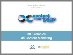30 Exemplos de Content Marketing - e-book - capa