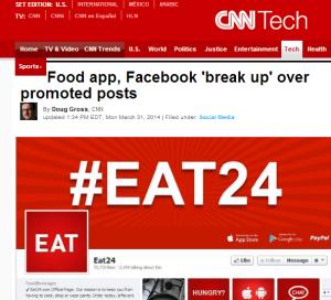Caso Eat24 no site da CNN