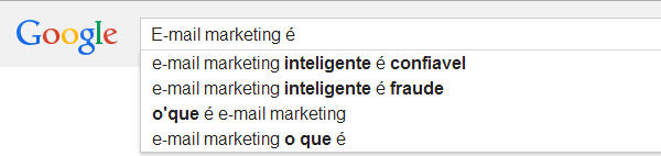 Busca no Google - email marketing