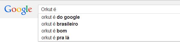 Busca no Google - Orkut