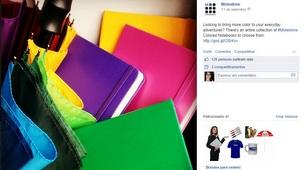 Fan Page da Moleskine no Facebook - 305x170px