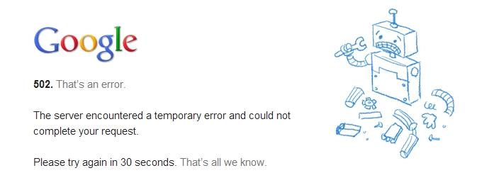 Google fora do ar