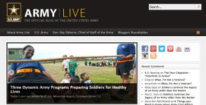 Vai desenvolver um site governamental? Considere usar plataformas populares - blog Army Live feito em WordPress