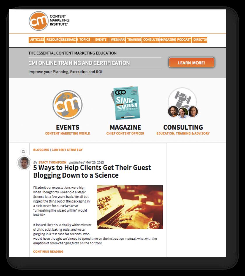 Content Marketing Institute - print do site