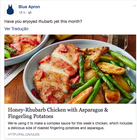 O que é storytelling - post da Blue Apron