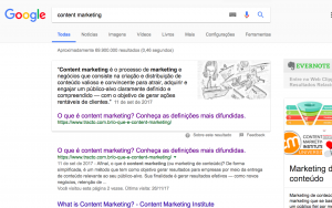 Snippet de content marketing - conteúdo educativo - SEO