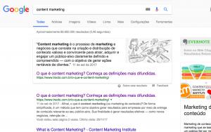 Snippet de content marketing - conteúdo educativo - SEO