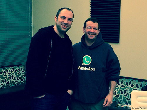 Brian Acton e Jan Koum - fundadores do WhatsApp