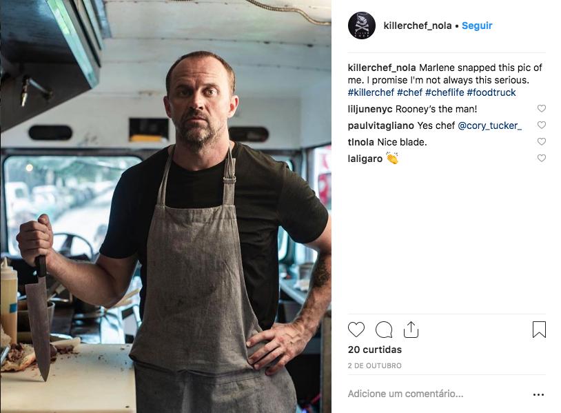 Personagem Caleb Rooney no Instagram