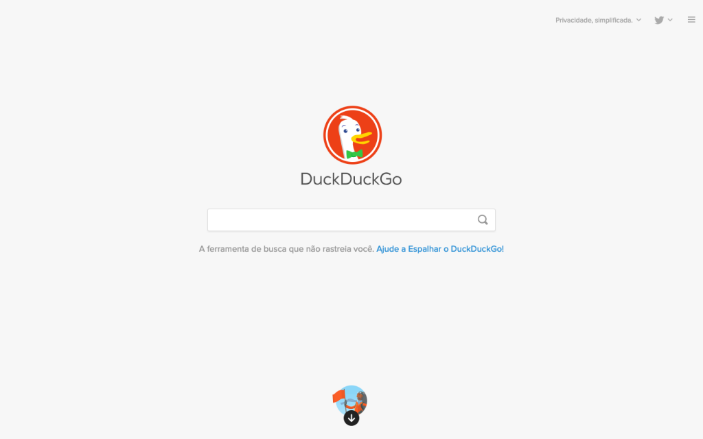 Home do DuckDuckGo.