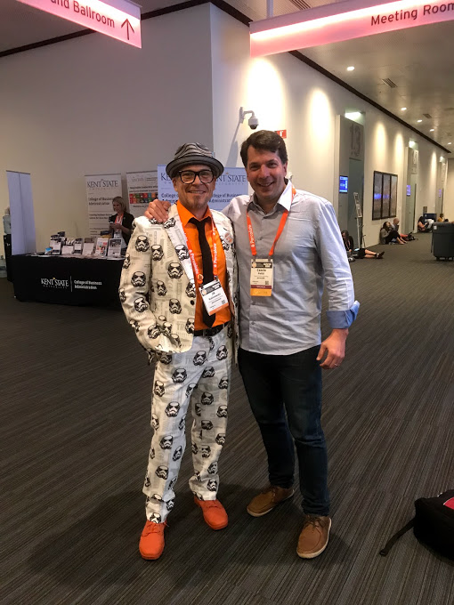 Joseph Kalinowski e Cassio Politi no Content Marketing World 2018, em Cleveland, nos EUA
