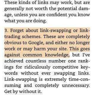 Trecho do livro SEO 2019 sobre link swapping